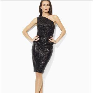 Ralph Lauren one shoulder  Sequin Dress